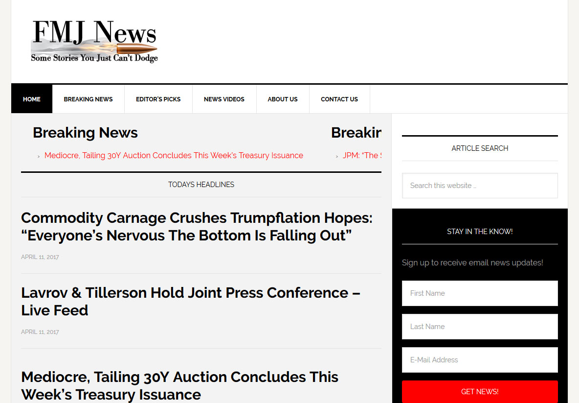 FMJ News Web Development by Andrew Dunn