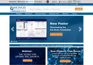 NovusBio.com Website